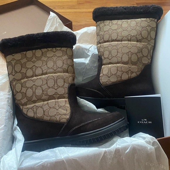 Coach Sherman Winter Boots size 8.5 New With Tags
